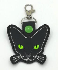 kat sleutelhanger groen
