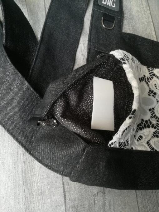 black white lace mini binnenkant