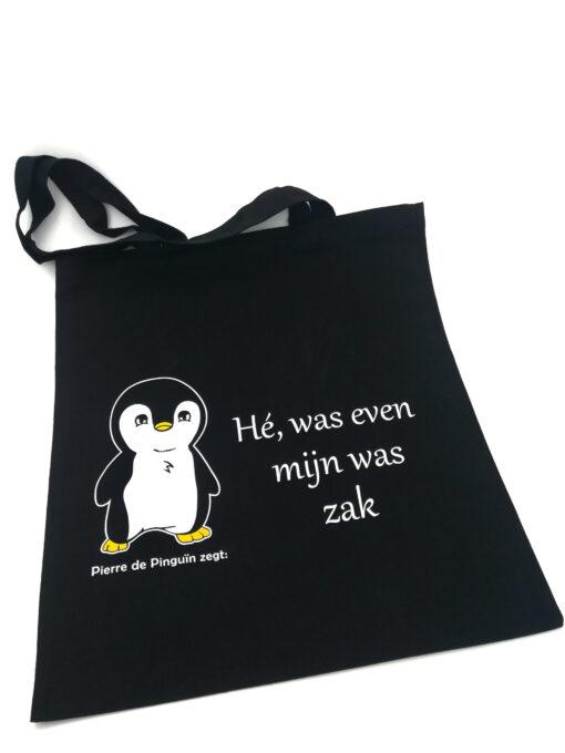 Pierre de Pinguin draagtas was zak