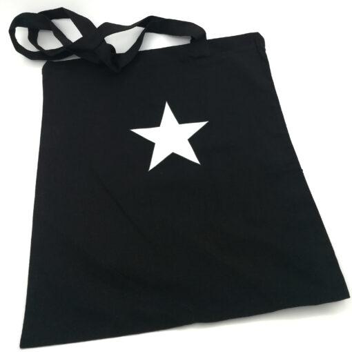 draagtas zwart met ster wit