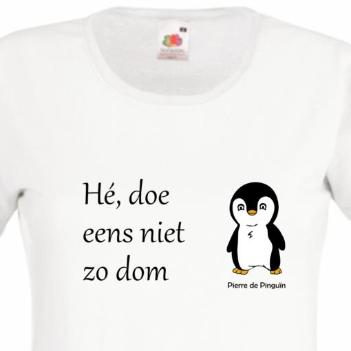 tshirt-dames-wit-doe-niet-zo-dom-detail
