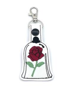 sleutelhanger roos wit